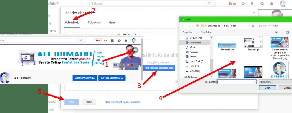 Cara Merubah Sampul atau Header Youtube Di Android
