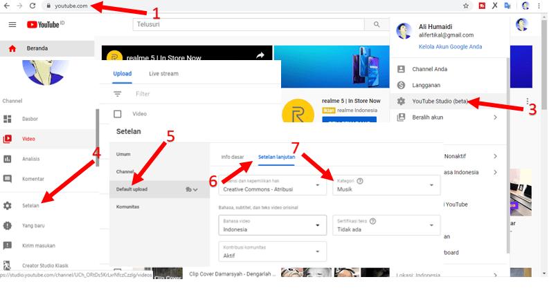 Cara Merubah Kategori Youtube