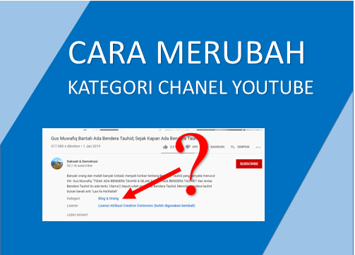 Cara Mengubah Kategori Channel Youtube