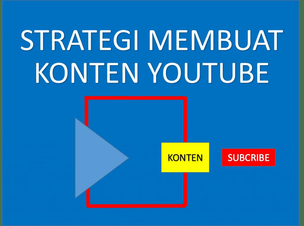 Strategi Membuat Konten Youtube
