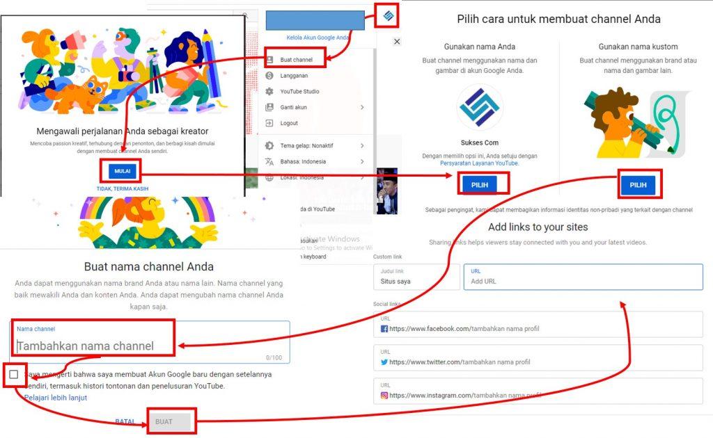 Cara Membuat Channel Youtube di PC