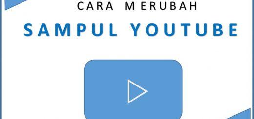 cara merubah sampul youtube