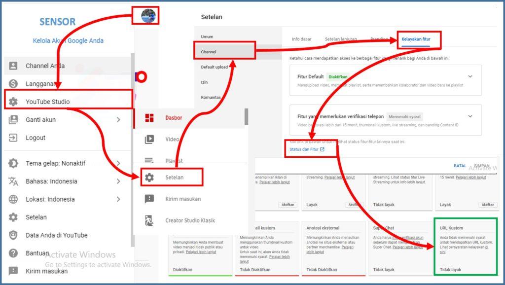 Cara Mengganti URL Custom Channel Youtube di HP dan PC