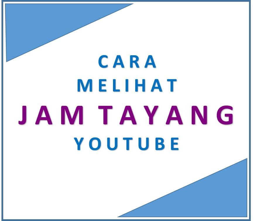 Cara Melihat Jam Tayang channel Youtube