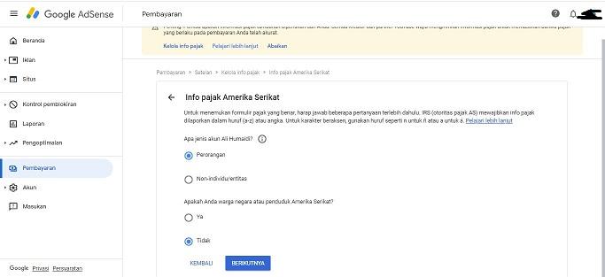 Cara mengirimkan Informasi pajak ke youtube